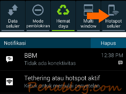 Aktifkan Tethering and Mobile Hotspot