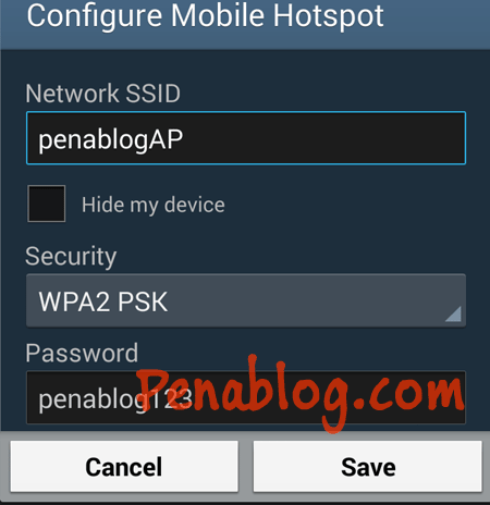 Setting Mobile Hotspot Android