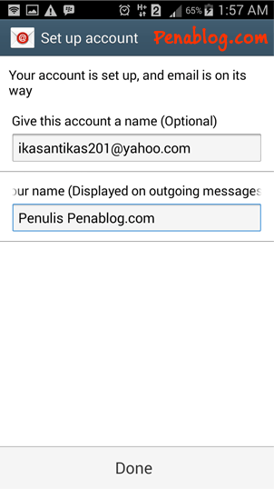 Setting Email Yahoo di Android