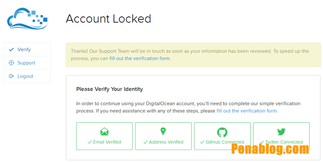 Inilah Cara Mengatasi Digital Ocean Account Locked