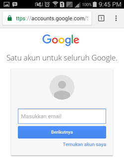 Login ke gmail