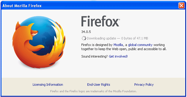 Update Mozilla Firefox Manual