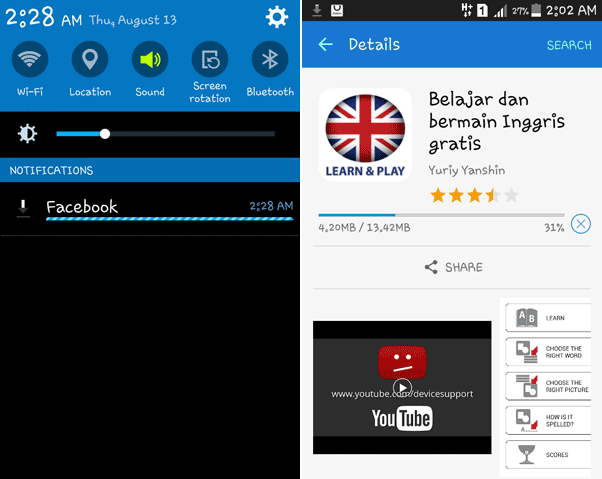 cara mendownload lagu di hp android samsung