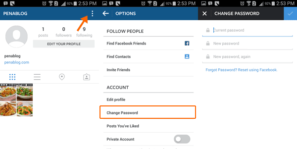Mengganti Password Instagram Dari PC dan HP